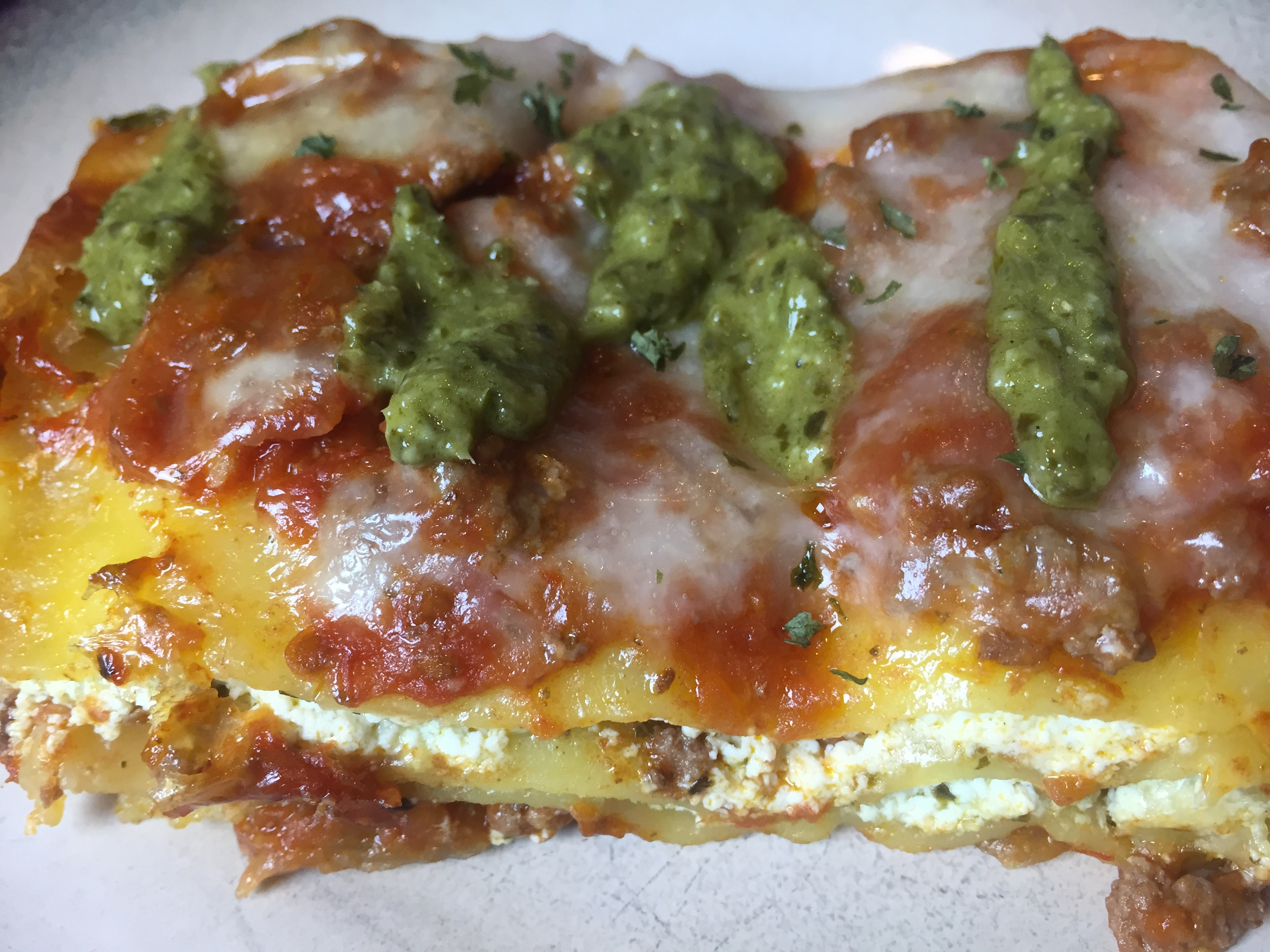 Meaty Pesto Lasagna - 3 Whole Peas in our Gluten Free Pod